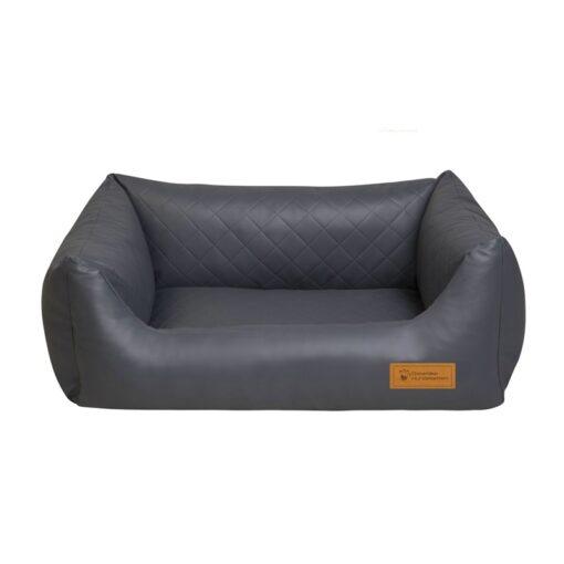 viskoelastisches, orthopädisches Hundebett Comfort Kunstleder mit gesteppter, wattierter Liegefläche